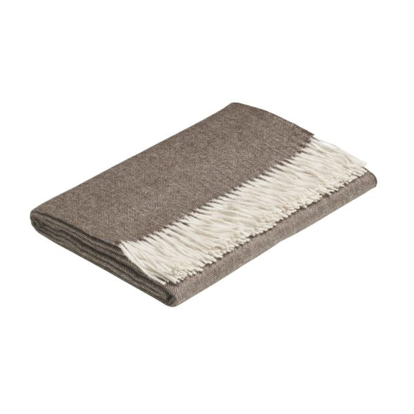 DUNA BABY ALPACA THROW BROWN/WHITE