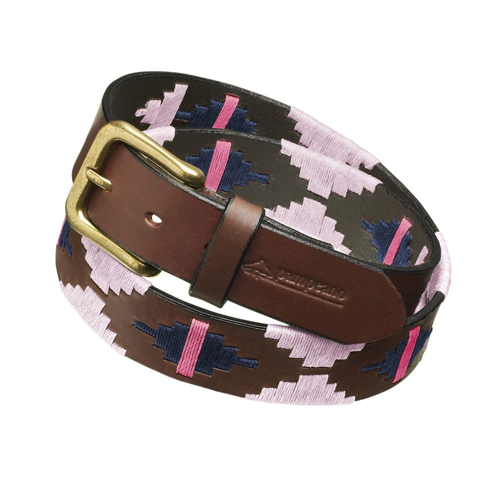 argentine leather polo belts pink navy rosa 1000x1000