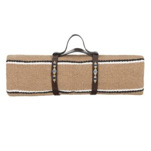 LA PAMPA LEATHER PICNIC BLANKET STRAPS BLUE