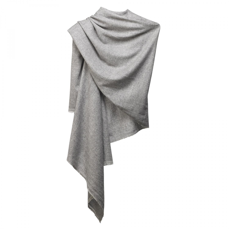 cashmere scarf dark grey white ocio 1
