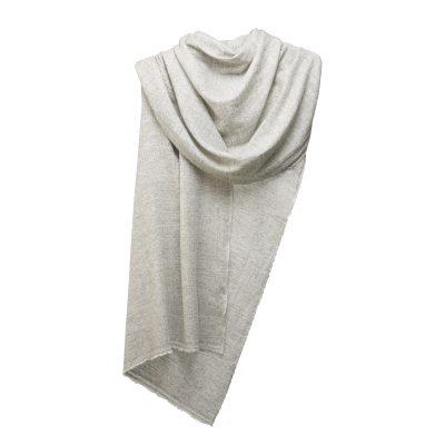 cashmere scarf light grey white ocio 400x400