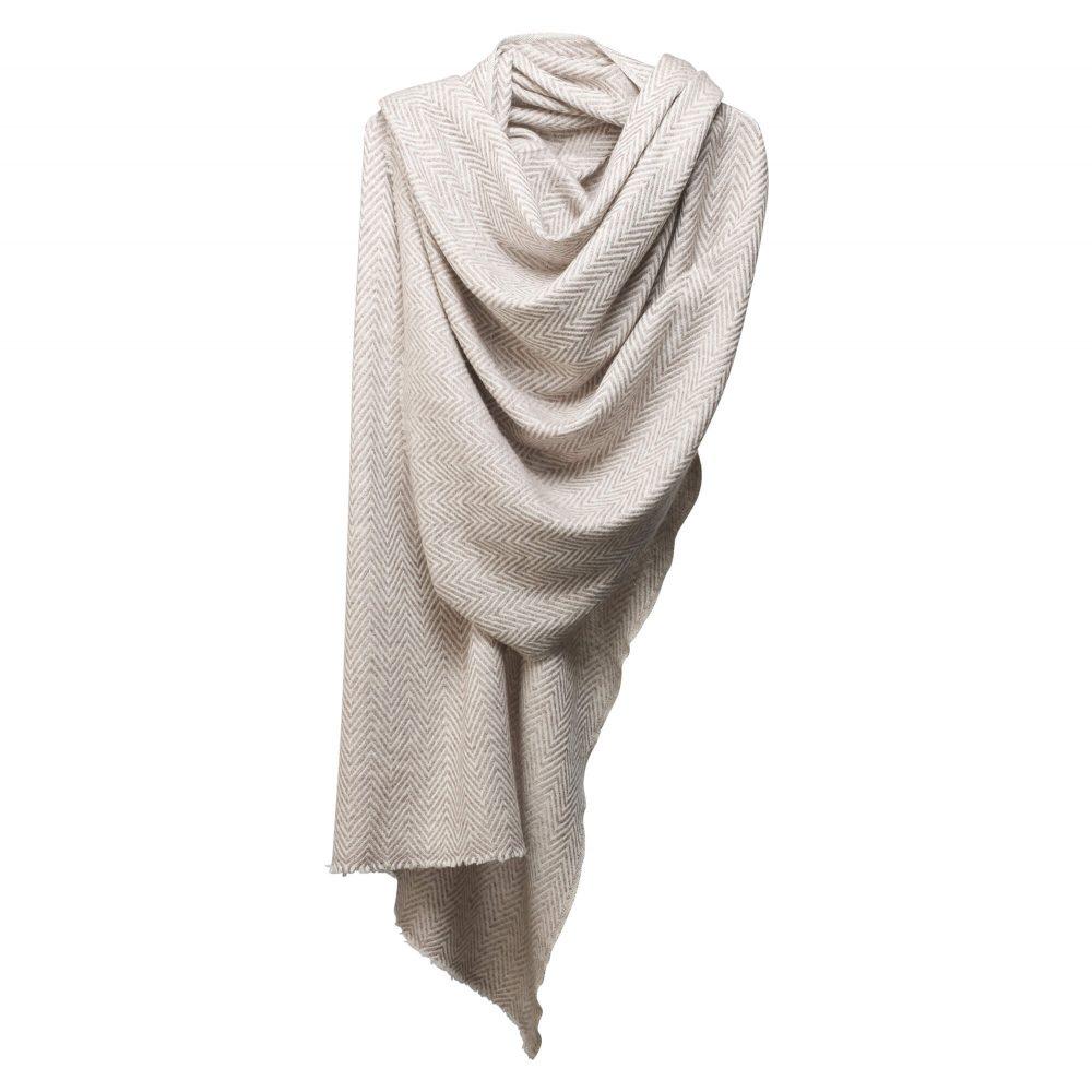 cashmere scraf beige white paseo 1000x1000