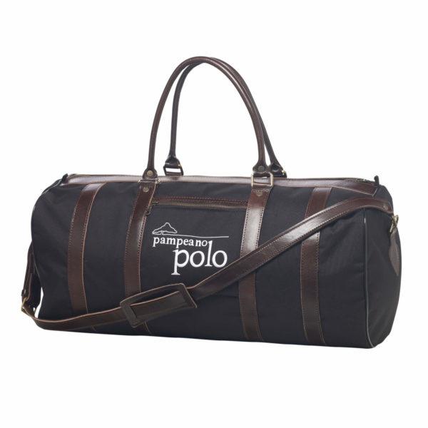 polo equipment canvas leather kit bag black