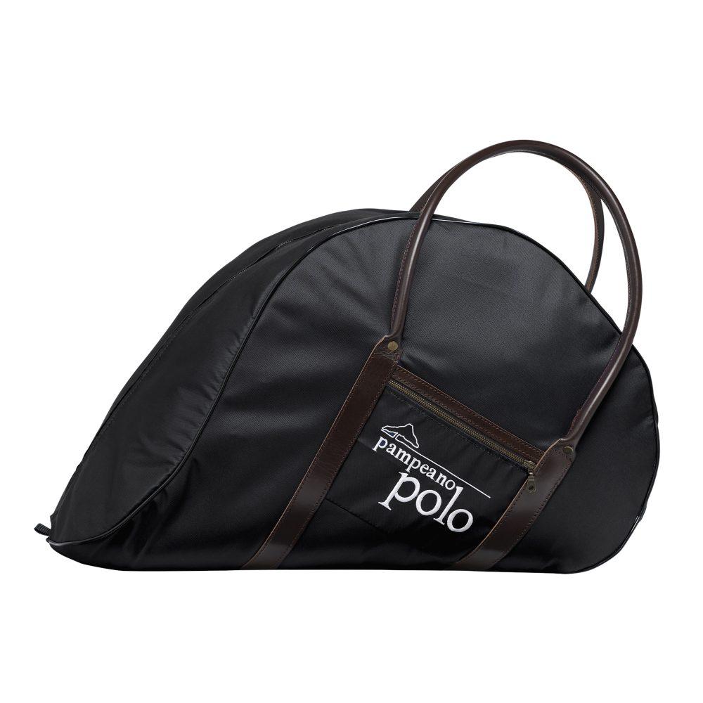 polo equipment leather nylon saddle bag black 1000x1000