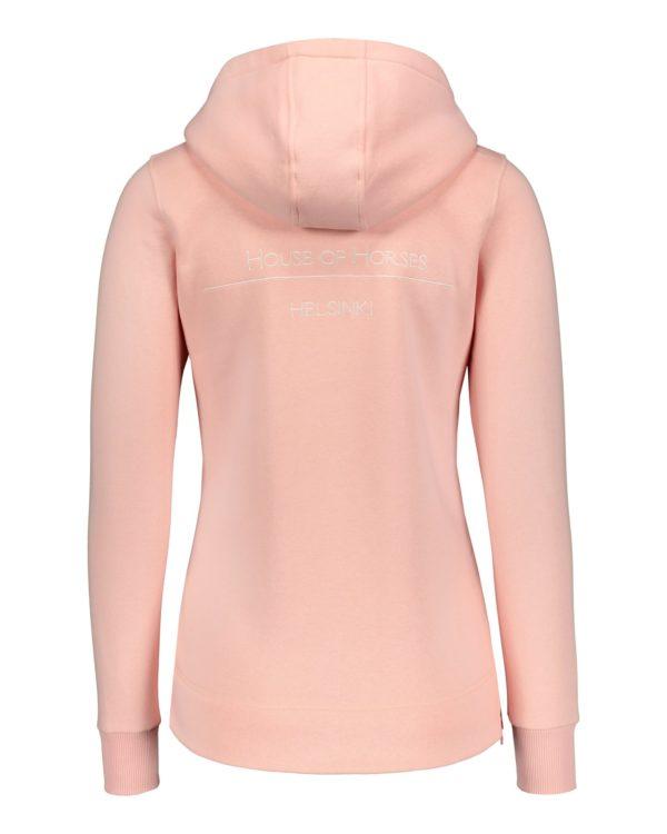 house of horses hoodie kapuzenpulli rosa