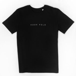 hook polo tee shirt black